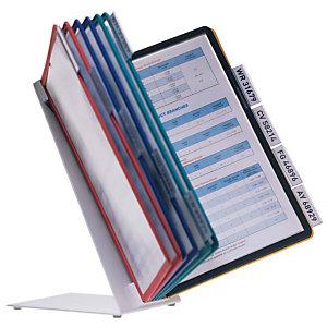 Durable VARIO® Sistema de paneles de presentación para mesa, 10 compartimentos, A4, colores variados