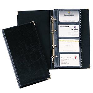 Durable VISIFIX, Clasificador de tarjetas de visita, 12 páginas, preimpreso: A-Z, 57 x 90 mm, 200 tarjetas, Con pestañas, Negro