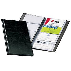 Durable VISIFIX, Clasificador de tarjetas de visita, 57 X 90 mm, 96 tarjetas, Negro