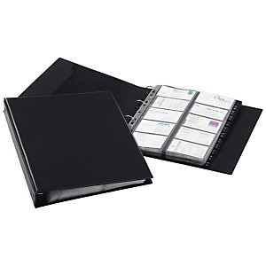Durable VISIFIX ECONOMY, porte-cartes, 400compartiments, 12parties, pré-imprimé: A-Z, avec index alphabétique, noir