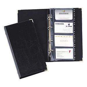 Durable VISIFIX, porte-cartes, 12compartiments, pré-imprimé: A-Z, 57x90mm, capacité de 200cartes, avec index alphabétique, noir