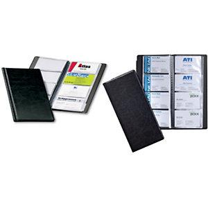 Durable VISIFIX Raccoglitore per biglietti da visita, 57 x 90 mm, 96 biglietti, Nero