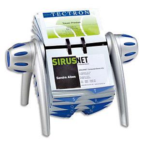Durable VISIFIX VEGA - fichier de carte rotative pour 400 cartes de visite  - Couleur Argent/Bleu