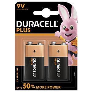 DURACELL Pile alcaline 9V Plus - Lot de 2