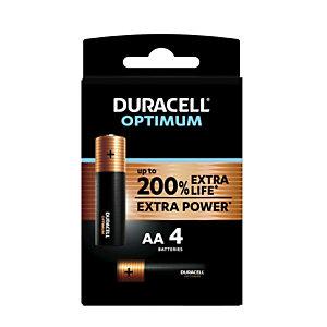 Duracell Pile alcaline AA / LR6 Optimum - Lot de 4