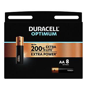 Duracell Pile alcaline AA / LR6 Optimum - Lot de 8
