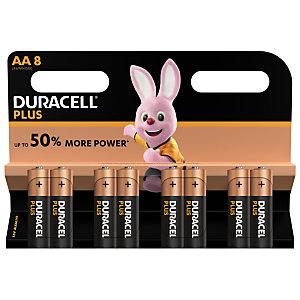 DURACELL Pile alcaline AA / LR6 Plus - Lot de 8