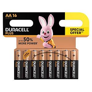 DURACELL Pile alcaline AA / LR6 Plus - Offre spéciale Pack de 16 piles