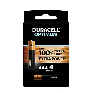 Duracell Pile Alcaline AAA / LR3 Optimum - Lot de 4