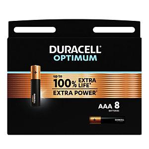 Duracell Pile Alcaline AAA / LR3 Optimum - Lot de 8