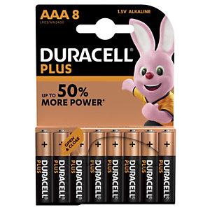 DURACELL Pile alcaline AAA / LR3 Plus - Lot de 8