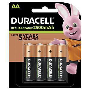 DURACELL Pile rechargeable AA / HR6 Ultra - 2500 mAh - Lot de 4 accus