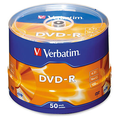 DVD±R en spindle VERBATIM