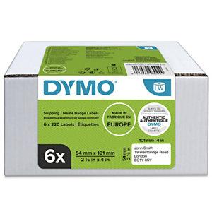 Dymo 2093092 Étiquettes d'expédition LW polyvalentes authentiques, 54 mmx101 mm, facilement détachables, auto-adhésives, pour étiqueteuses LabelWriter