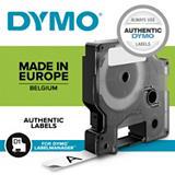 Dymo 2093098 D1 Cinta de etiquetas estándar negro sobre blanco 19 mm x 7 m, paquete de 10