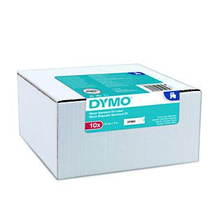 Dymo D1 Ruban pour titreuse, écriture Noir / fond Blanc - 12 mm x 7 m, modèle S0720530 - Boîte de 10 rubans