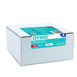 Dymo D1 Ruban pour titreuse, écriture Noir / fond Blanc - 19 mm x 7 m, modèle S0720830 - Boîte de 10 rubans