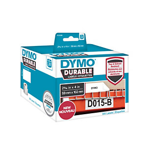 Dymo Dymo 1933088 LW Etiquetas duraderas multiusos, blanco, 102 x 59 mm