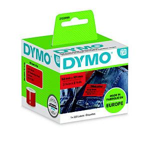 Dymo Etichette per spedizione/badge 2133399 Rosso, 101 x 54 mm