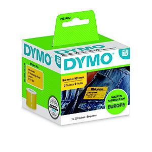 Dymo Etichette per spedizione/badge 2133400, Giallo, 101 x 54 mm (confezione 220 pezzi)
