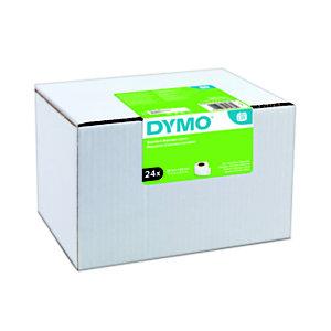 Dymo étiquettes d'adresse standard S0722360 pour LabelWriter 89x28mm - noir sur fond blanc - Boîte de 24 rouleaux de 130 étiquettes
