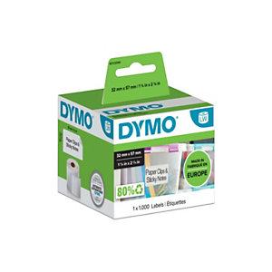 Dymo Étiquettes LW multi-usages S0722540, noir sur fond blanc, 57 x 32 mm