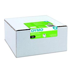 Dymo Étiquettes LW polyvalentes authentiques, 32mmx57mm, facilement détachables, auto-adhésives, pour étiqueteuses LabelWriter
