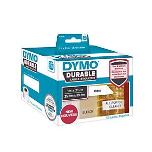 Dymo Etiquettes résistantes LW 25 mm x 89 mm - REF DYMO 1933081 - 2 rouleaux de 350 étiquettes