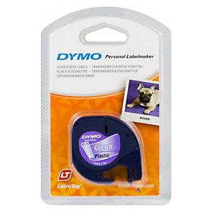Dymo LetraTAG S0721530 Nastro per etichettatrici, Nero su trasparente, 12 mm x 4 m