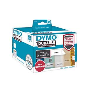 Dymo LW Durable 1933083 Etichette in rotolo, Multiuso, 25 x 25 mm, Bianco