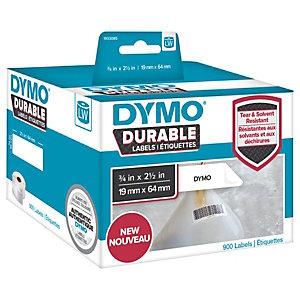Dymo LW Durable 1933085 Etichette in rotolo, Codice a barre, 19 x 64 mm, Bianco