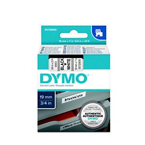 Dymo Ruban D1 19 mm S0720830 écriture noire sur fond blanc