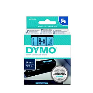 Dymo Ruban titreuse  D1 - écriture Noir / fond Bleu - 9 mm x 7 m - Modèle S0720710