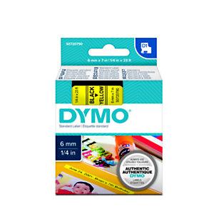 Dymo Ruban titreuse  D1 -  écriture Noir / fond Jaune - 6 mm x 7 m - Modèle S0720790