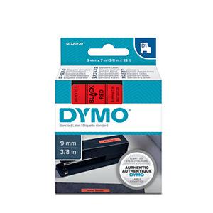 Dymo Ruban titreuse  D1 - écriture Noir / fond Rouge - 9 mm x 7 m - Modèle S0720720