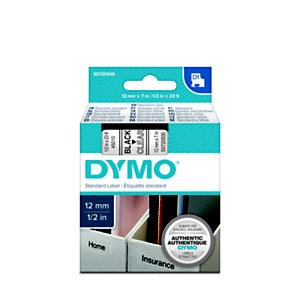 Dymo S0720500 D1 Estándar negro sobre transparente 12 mm x 7 m