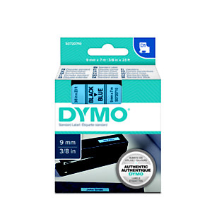 Dymo S0720710 D1 Estándar negro sobre azul 9 mm x 7 m