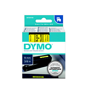 Dymo S0720730 D1 Standard Nero su giallo 9 mm x 7 m