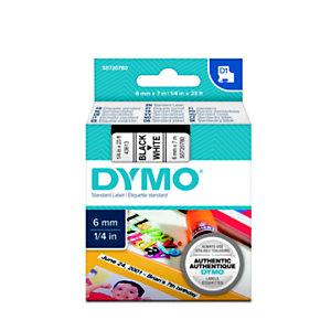 Dymo S0720780 D1 Estándar negro sobre blanco 6 mm x 7 m