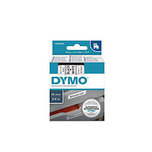 Dymo S0720830 D1 Estándar negro sobre blanco 19 mm x 7 m