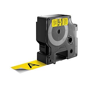 Dymo S0720980 D1 Estándar negro sobre amarillo 24 mm x 7 m