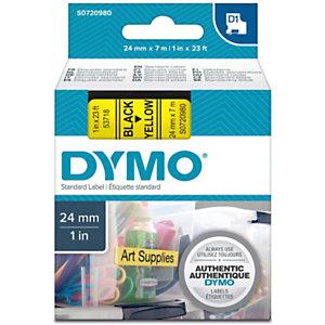 Dymo S0720980 D1 standard noir sur fond jaune 24mm x 7m