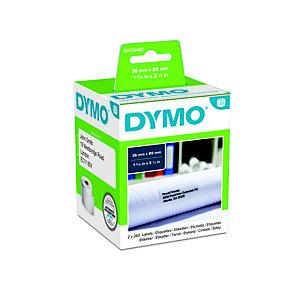 Dymo S0722400 LW Etiquetas de dirección grandes, negro sobre blanco, 89 x 36 mm