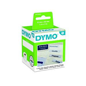 Dymo S0722460 LW Etichette per cartelle sospese Nero su bianco 50 x 12 mm