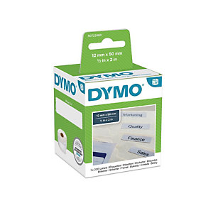 Dymo S0722460 LW Etiquetas para carpetas colgantes, negro sobre blanco, 50 x 12 mm