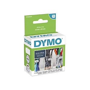 Dymo S0722530 LW Etiquetas multiusos, negro sobre blanco, 25 x 13 mm