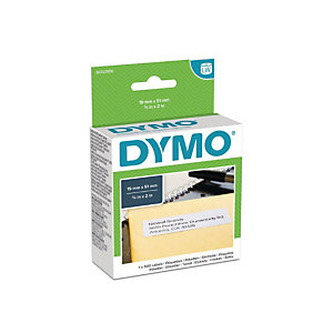 Dymo S0722550 LW Etiquetas multiusos, negro sobre blanco, 51 x 19 mm