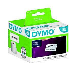 Dymo S0722560 LW Small Etichette badge Nero su bianco 89 x 41 mm