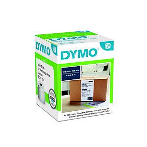 Dymo S0904980 LW très grand format étiquettes d'expédition noir sur fond blanc 159 x 104mm