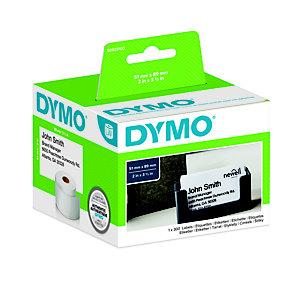 Dymo S0929100 LW Etiquetas citas/nombre tarjeta identificadora, negro sobre blanco, 89 x 51 mm (No Adhesivas)